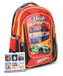 Hotwheels School Backpack Red - 18 Inches
