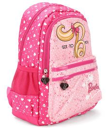 Barbie School Backpack Pink - 15 inches