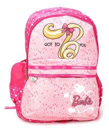 Barbie School Backpack Pink - 19 inches