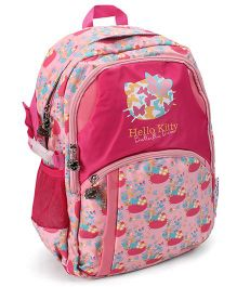 Hello Kitty School Bag Butterfly Print Pink - 17 Inches