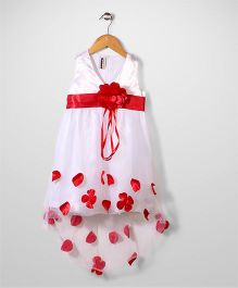 Superfie Flower Print Dress - White & Red