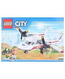 Lego City Great Vehicles Ambulance Plane Construction Set - 183 Pieces