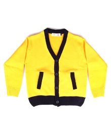 Kids On Board Solid Sweater- Yellow