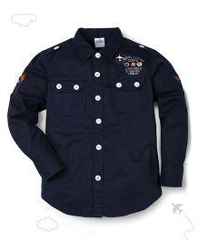 Flight Deck by Babyhug Full Sleeves Shirt - Navy Blue