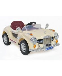 Marktech B WIld Vintage Battery Operated Car Ride On - Cream