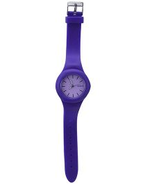 Analog Wrist Watch Round Shape Dial - Purple