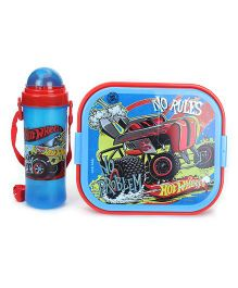 Hot Wheels Lunch Box With Bottle - Blue