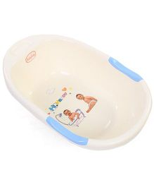 Babyhug Bath Tub Happy Print - Off White