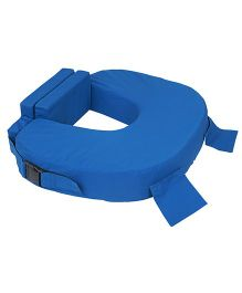 Comfeed Pillows By Nina Large Or Twins Feeding Pillow With Back Support & Silent Release Buckle - Royal Blue