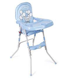 1st Step High Chair Teddy Print ST-1089 BL - Blue