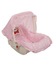 1st Step Carry Cot Cum Rocker Heart Print - Pink