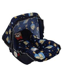 1st Step Baby Carry Cot Cum Rocker Teddy And Moon Print ST 1051 - Dark Blue