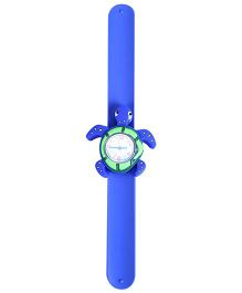 Slap Style Analog Watch Tortoise Shape Dial - Blue