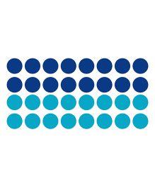 Chipakk Polka Dots HD Wall Decal - Blue