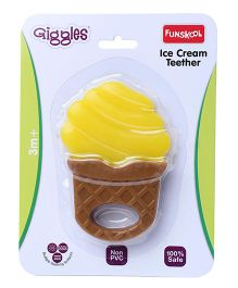 Funskool Giggles Ice Cream Teether - Yellow