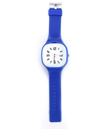 Analogue Wrist Watch Square Shape Dial - Blue