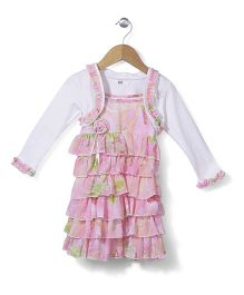 Enfant Floral Print Dress - Pink