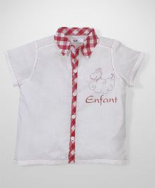 Enfant Checkered Shirt - White & Red