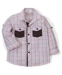 Enfant Plaid Print Shirt - Multicolour