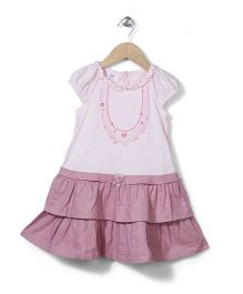 Enfant Jewelry Print Dress - Pink
