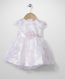 Little Coogie Floral Print Dress - Pink