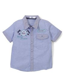 Enfant Shirt With Pocket- Blue