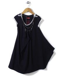 Elle Fashion Party Wear Dress- Black