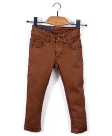 Trombone Stylish Jeans Pant - Dark Brown