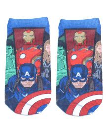 Mustang Ankle Length Socks Captain America Design - Royal Blue
