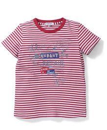 Enfant Stripe Print T-Shirt - Red