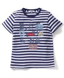 Enfant Stripe Print T-Shirt - Blue