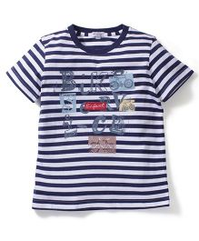 Enfant Stripe Print T-Shirt - Blue