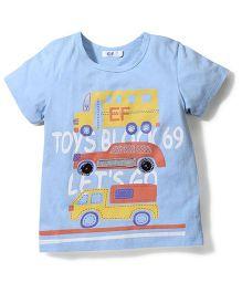 Enfant Vehical Print T-shirt - Blue
