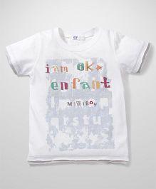 Enfant I Am Ok Print T-Shirt - White
