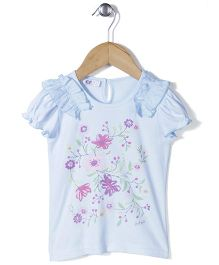 Enfant Floral Print Top - Blue