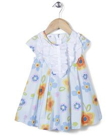 Enfant Floral Print Dress - Blue