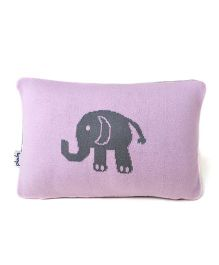 Pluchi Elephant Baby Pillow - Pink & Grey