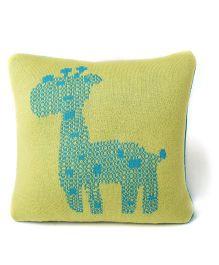 Pluchi Giraffe Baby Pillow - Blue & Green