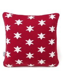 Pluchi Stars Design Baby Pillow  - Red