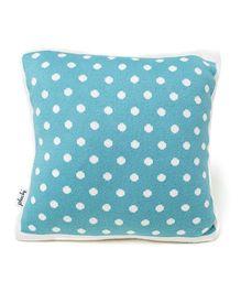 Pluchi Dot Design Baby Pillow - Blue