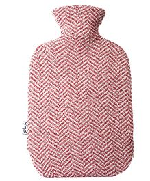 Pluchi Cotton Hot Water Bottle Cover - Red & White