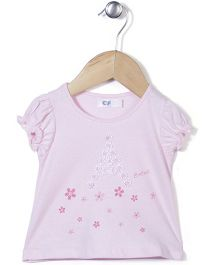 Enfant Flower Print Top - White