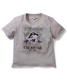 Enfant Pirate Print T-Shirt - Grey