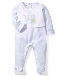 Little Wacoal Little Bear Print Onesie - White & Pink