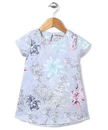 Kiddy Mall Floral Print Top - Blue