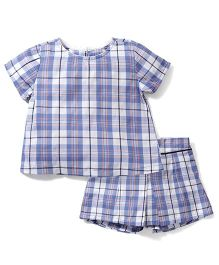 Kiddy Mall Shorts & Top Set - Blue
