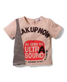 AZ Baby Printed T-Shirt - Brown