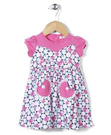 AZ Baby Flower Print Dress - Pink & White