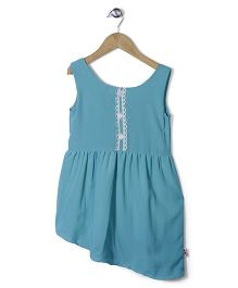 Chic Girls Attractive Party Dress - Aqua Blue