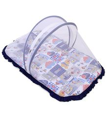 Mee Mee Mattress Set With Mosquito Net Multi Print - Multicolour